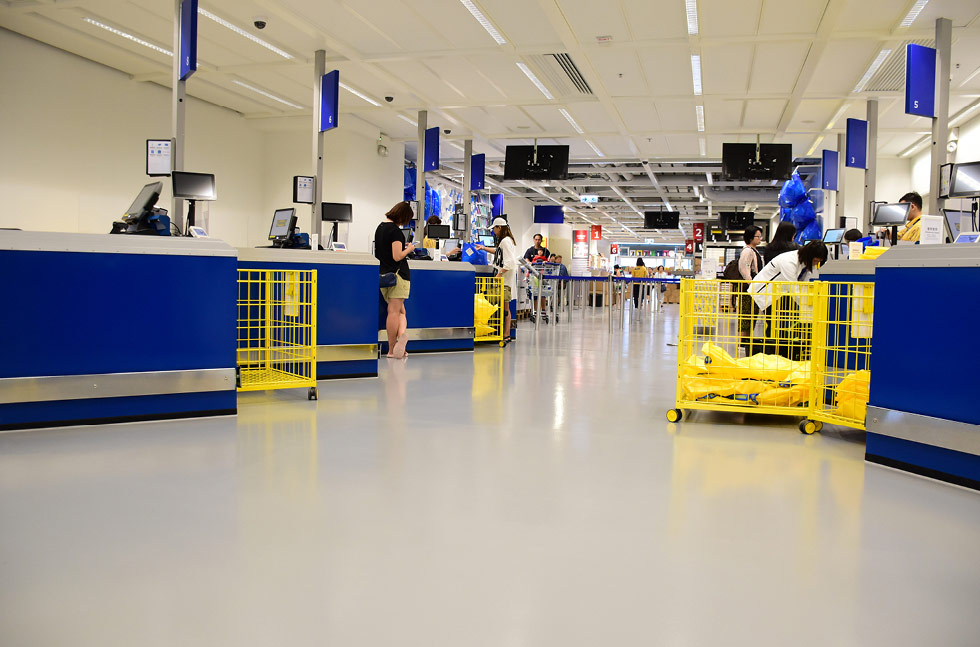 Ikea Furnish Hong Kong Store With Specialist Floor Flowcrete