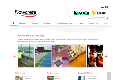 2003 | Flowcrete Goes Digital with First Website